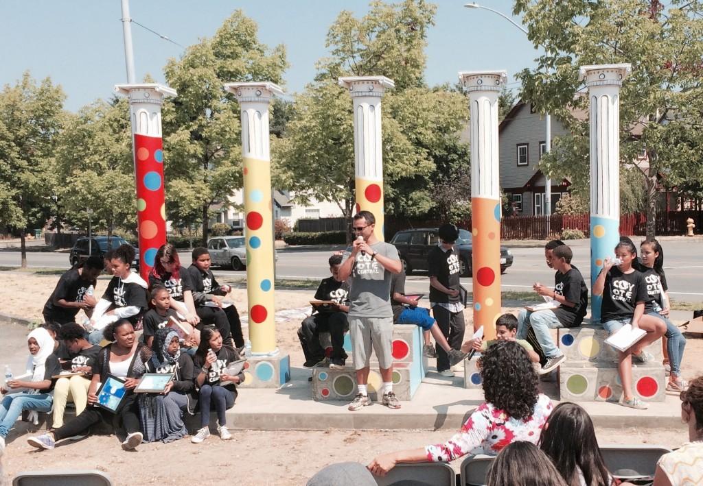 Pillars project's Jesse Bernstein performs 2015-08-13