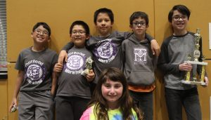 Photo of the 6 team members at 2016 State Elementary Chess Championship